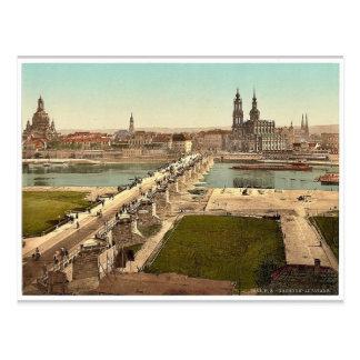 Altstadt, Dresden, vista del ministerio de la Tarjeta Postal