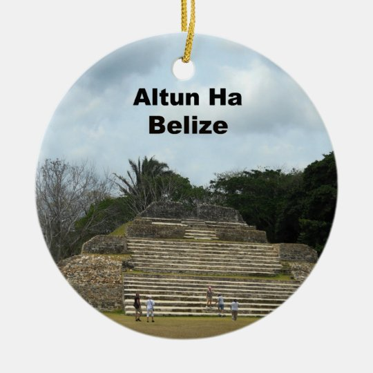 Altun Ha, Belize Ceramic Ornament