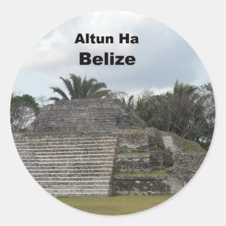 Altun Ha, Belize Classic Round Sticker