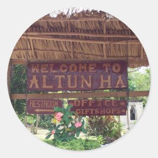 Altun Ha Classic Round Sticker