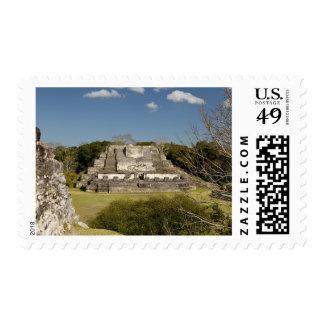 Altun ha es un sitio maya que data de 200 timbre postal