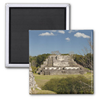 Altun Ha is a Mayan site that dates back to 200 2 Inch Square Magnet