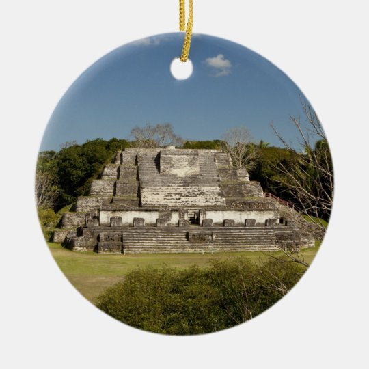 Altun Ha is a Mayan site that dates back to 200 Ceramic Ornament