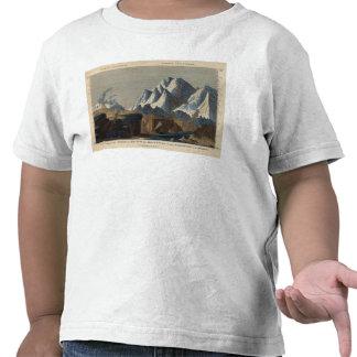 Altura comparativa de las montañas principales camisetas
