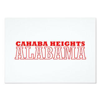 """Alturas de Cahaba, diseño de la ciudad de Alabama Invitación 5"""" X 7"""""""