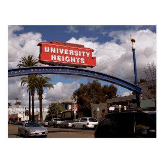 Alturas de la universidad, postal de San Diego
