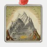 Alturas de las montañas principales en el mundo 2 ornamentos de navidad