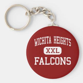 Alturas de Wichita - Falcons - altas - Wichita Kan Llavero Redondo Tipo Pin