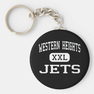 Alturas occidentales - jets - mayor - Oklahoma Cit Llavero Redondo Tipo Pin