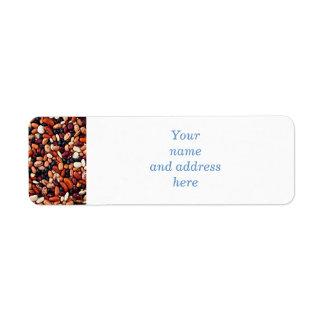 Alubias secas etiqueta de remite