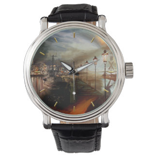 Alucinación de la lámpara de calle relojes de pulsera