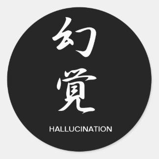 Alucinación - Genkaku Pegatinas Redondas