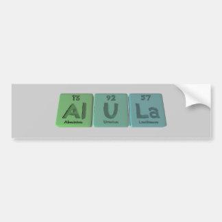 Alula-Al-U-La-aluminio-uranio-Lantano Pegatina Para Auto