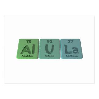 Alula-Al-U-La-Aluminium-Uranium-Lanthanum Postcard