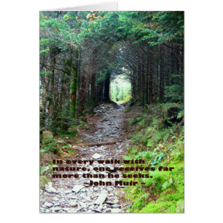 Alum Cave Trail: Every walk w/nature… John Muir Card