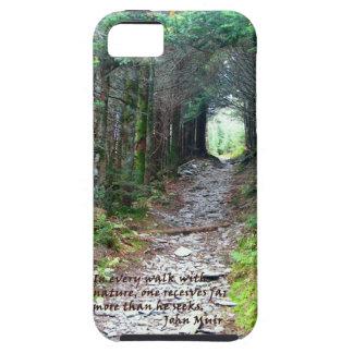Alum Cave Trail: Every walk w/nature… John Muir iPhone 5 Cover