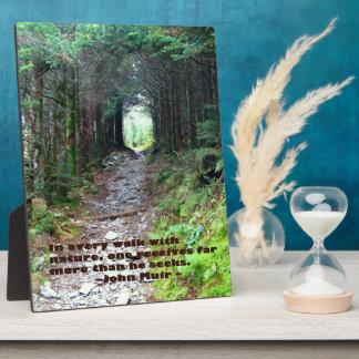 Alum Cave Trail: Every walk w/nature… John Muir Plaque