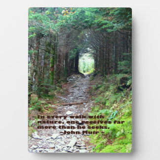 Alum Cave Trail: Every walk w/nature… John Muir Photo Plaques