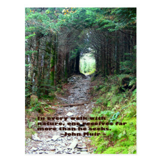 Alum Cave Trail: Every walk w/nature… John Muir Postcard