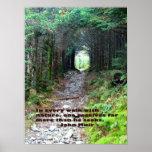 Alum Cave Trail: Every walk w/nature… John Muir Print