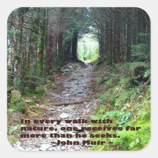 Alum Cave Trail: Every walk w/nature… John Muir Square Sticker