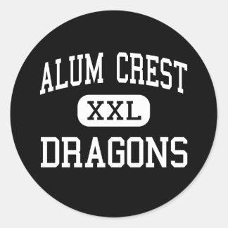 Alum Crest - Dragons - High School - Columbus Ohio Classic Round Sticker