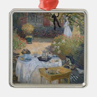Alumerzo de Claude Monet el |: El jardín Adorno Navideño Cuadrado De Metal