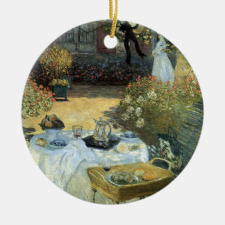 Alumerzo de Claude Monet, impresionismo del Adorno Navideño Redondo De Cerámica
