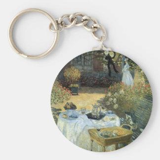 Alumerzo de Claude Monet, impresionismo del Llavero Redondo Tipo Chapa