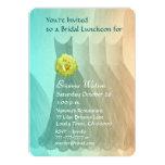 Alumerzo de la dama de honor u oro verde V01 del Invitación 12,7 X 17,8 Cm