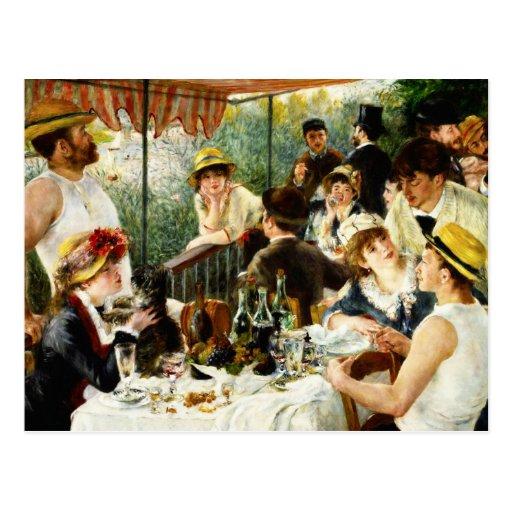 Alumerzo de Renoir de la postal del fiesta del can