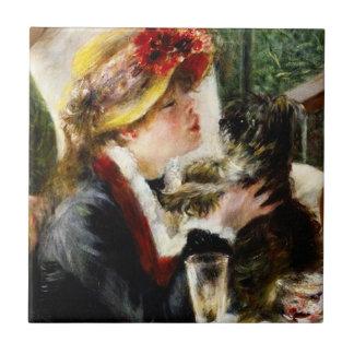 Alumerzo de Renoir de la teja del fiesta del canot