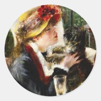 Alumerzo de Renoir de los pegatinas del fiesta del Pegatina Redonda