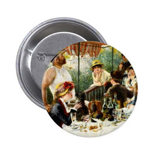 Alumerzo de Renoir del botón del fiesta del canota Pin