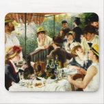 Alumerzo de Renoir del fiesta del canotaje Alfombrillas De Raton