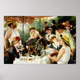 Alumerzo de Renoir del poster del fiesta del canot