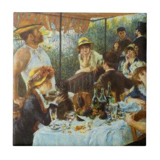 Alumerzo del fiesta del canotaje de Pedro Renoir Azulejo Cuadrado Pequeño