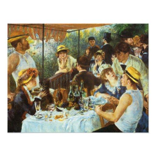 Alumerzo del fiesta del canotaje de Pedro Renoir Invitacion Personalizada