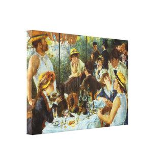 Alumerzo del fiesta del canotaje de Pedro Renoir Impresión En Lona Estirada