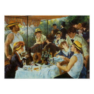 Alumerzo del fiesta del canotaje de Pedro Renoir Posters