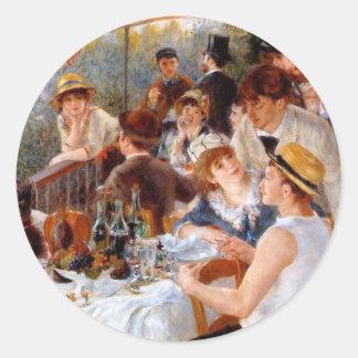 Alumerzo del fiesta del canotaje pegatina redonda