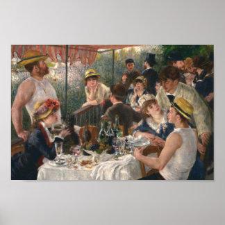 Alumerzo del fiesta del canotaje por Renoir Póster