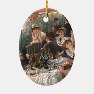 Alumerzo del fiesta del canotaje - Renoir Adorno Navideño Ovalado De Cerámica
