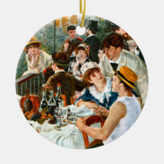 Alumerzo del fiesta del canotaje, Renoir Adorno Navideño Redondo De Cerámica