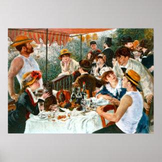Alumerzo del fiesta del canotaje, Renoir Poster