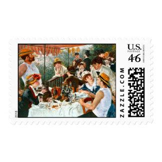 Alumerzo del fiesta del canotaje, Renoir Sellos