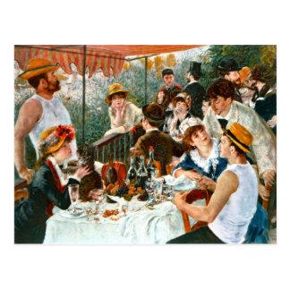 Alumerzo del fiesta del canotaje, Renoir Tarjeta Postal