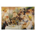Alumerzo del partido Auguste Renoir del canotaje Mantel Individual