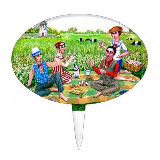 Alumerzo del verano en los años 20 Jamestown, RI Decoraciones Para Tartas