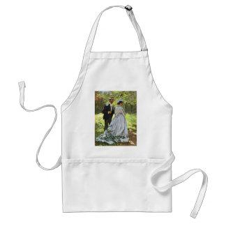 Alumerzo en la hierba Claude Monet Delantal